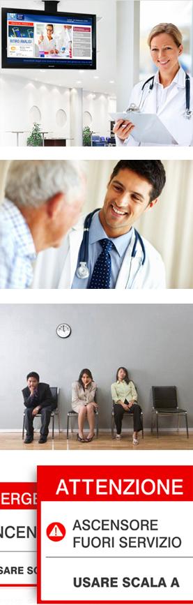 digital signage in ospedale