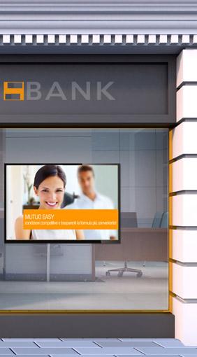 digital signage in filiale bancaria