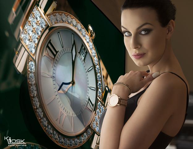digital signage in luxury showroom